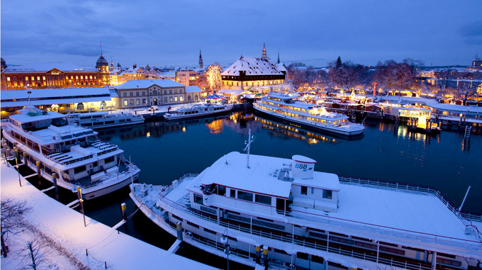 © Internationale Bodensee Tourismus GmbH / Achim Mende / Konstanz, DE - Winterschiffe / Zum Vergrößern auf das Bild klicken