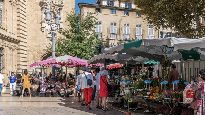 Provence, Frankreich - Markttag