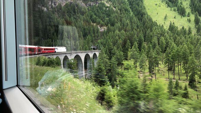 SBB-Fahrt Chur St. Moritz 2021