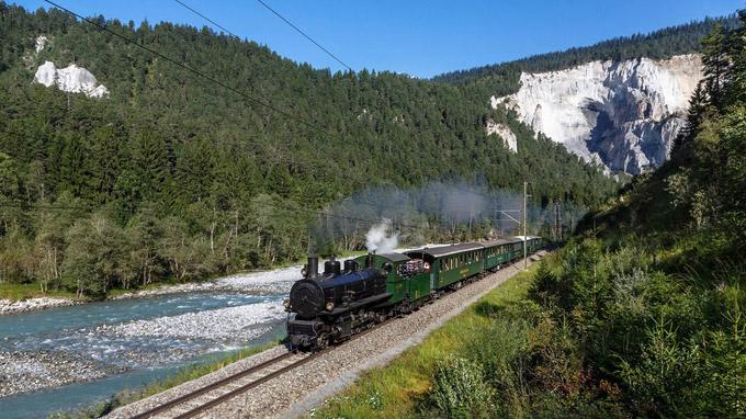 © Rhätische Bahn / Graubünden, CH - Dampffahrten  / Zum Vergrößern auf das Bild klicken