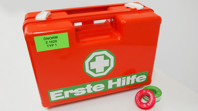 © gespag / Erste Hilfe Box / Zum Vergrößern auf das Bild klicken