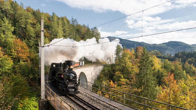 © NÖVOG / Gregory / Mariazellerbahn, NÖ - Dampflok Mh.6 / Zum Vergrößern auf das Bild klicken