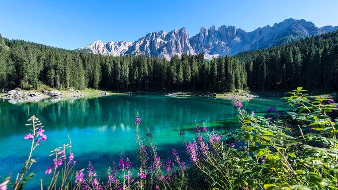 © Eggental Tourismus / Helmut Rier / Eggental, Südtirol - Karer See / Zum Vergrößern auf das Bild klicken