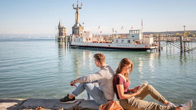 © MTK Dagmar Schwelle / Konstanz, Bodensee - Hafen / Zum Vergrößern auf das Bild klicken