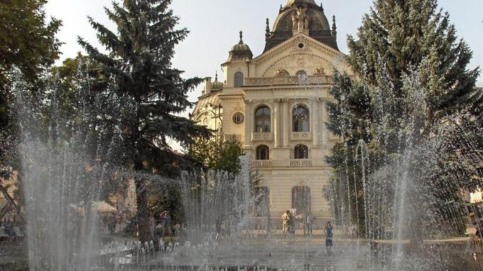 © slovakia.travel / Kosice, Slowakei - Musikbrunnen / Zum Vergrößern auf das Bild klicken