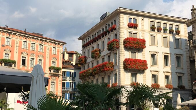 Lugano, Tessin - Hauptplatz 2021