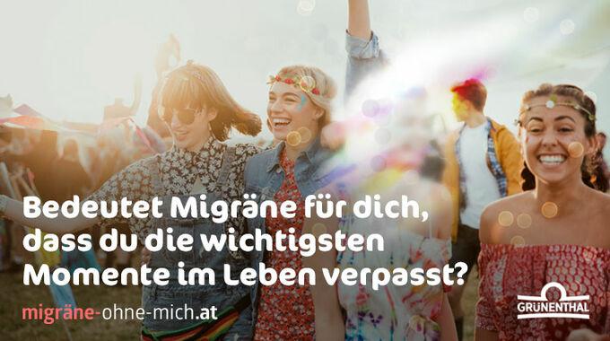 © Grünenthal, Abdruck honorarfrei / Kampagne Migräne ohne mich / Zum Vergrößern auf das Bild klicken
