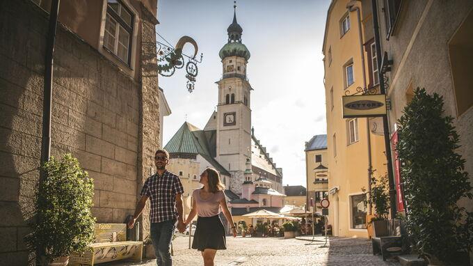 © hall-wattens.at / Dominic Ebenbichler / Hall in Tirol, Österreich - Altstadt / Zum Vergrößern auf das Bild klicken