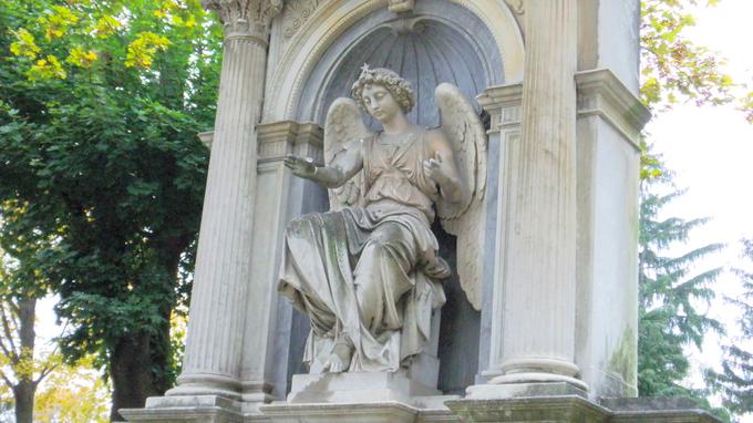 © Edith Spitzer, Wien / Wr Zentralfriedhof - Engel / Zum Vergrößern auf das Bild klicken