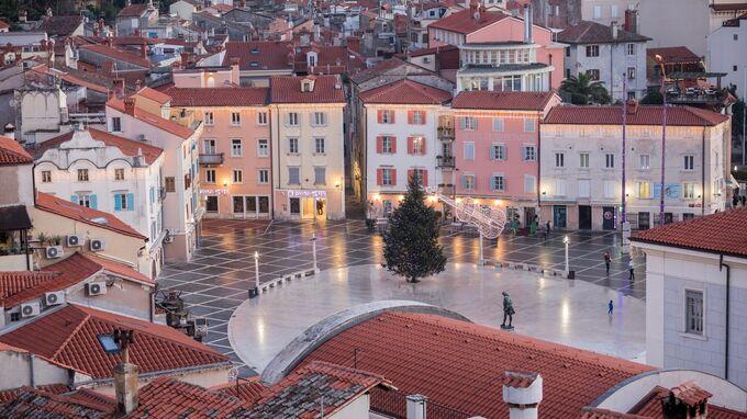 Piran, SLO - Tartini-Platz