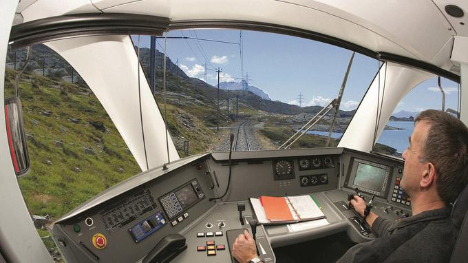 © Rhätische Bahn / RhB - Führerstandsfahrt / Zum Vergrößern auf das Bild klicken
