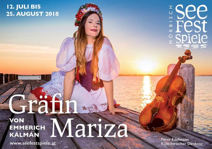© Seefestspiele Mörbisch / Seefestspiele Mörbisch, Burgenland - Gräfin Mariza_Plakat / Zum Vergrößern auf das Bild klicken