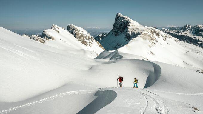 Fluehli, CH - Skitourengeher