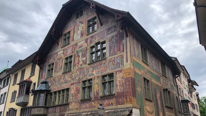 Schaffhausen - bemalte Häuser