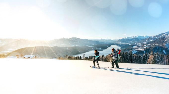 © MTG / Gert Perauer / Millstätter See, Kärnten - Schneeschuhwandern / Zum Vergrößern auf das Bild klicken