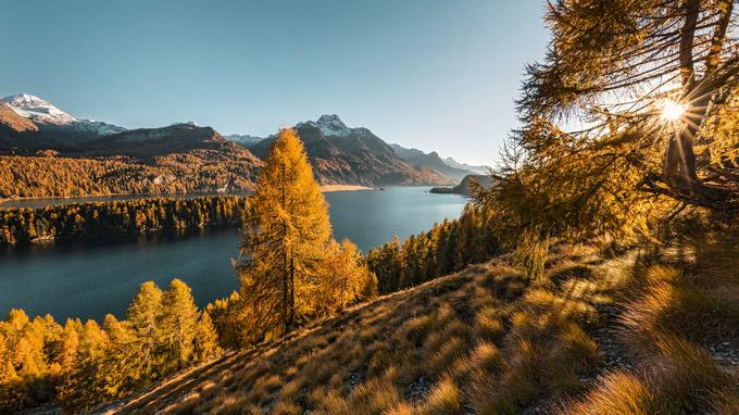 © Switzerland Tourism / Andreas Gerth / Silsersee, CH - Herbstwandern / Zum Vergrößern auf das Bild klicken