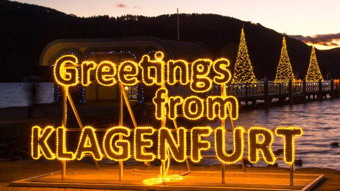 Tourismus Region Klagenfurt / Wolfgang Handler / Klagenfurt, Kärnten - Weihnachtsgrüße / Zum Vergrößern auf das Bild klicken