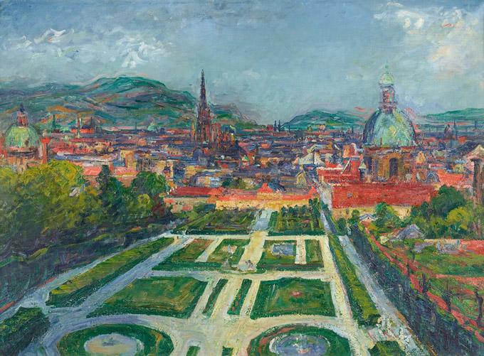 © Belvedere, Wien / Foto: Johannes Stoll / Belvedere, Wien - Ausstellung Canalettoblick, Blick vom Belvedere / Zum Vergrößern auf das Bild klicken