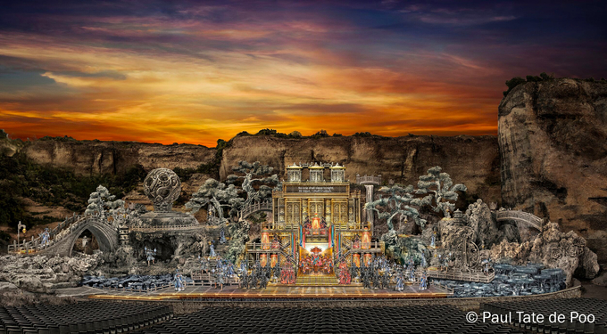 © Paul Tate de Poo / St. Margarethen, Burgenland - Bühnenbild Turandot 2020 / Zum Vergrößern auf das Bild klicken