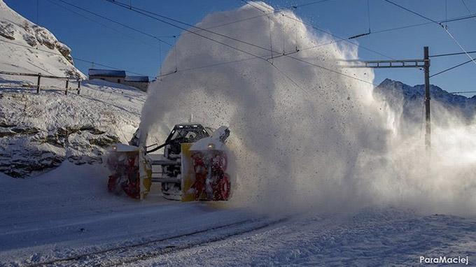 Rhätische Bahn, Schweiz - Schneeräumung