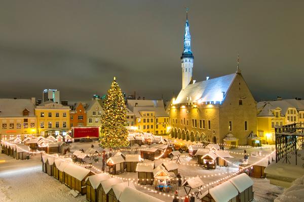 Tallinn, Estland - Christkindlmarkt