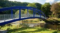 Rheinland-Pfalz, DE - Nahe-Radweg auf der Brücke