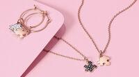 Puzzle - Ohrringe und Anhänger Rosegold und Diamanten