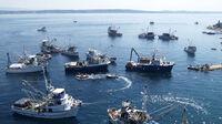 Kali, Kroatien - Fischerboote