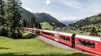 © RhB / Bergün, Schweiz - Gliederzug / Zum Vergrößern auf das Bild klicken
