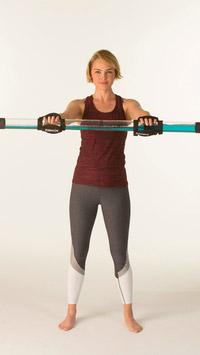 © Aktion Gesunder Rücken (AGR) e.V. / Rückengymnastik mit Kunststoffrohre / Zum Vergrößern auf das Bild klicken