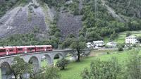 © Edith Spitzer, Wien / Bernina Express, Schweiz - Kreisviadukt / Zum Vergrößern auf das Bild klicken