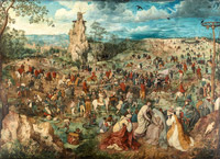 © KHM-Museumsverband / KHM Wien - Ausstellung BruegelDie Kreuztragung Christi / Zum Vergrößern auf das Bild klicken