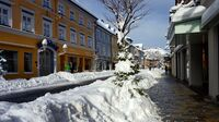 Murnau, Bayern - Fussgängerzone im Winter