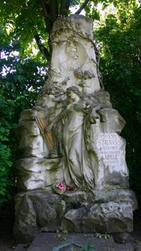 © Edith Spitzer, Wien / Wr Zentralfriedhof - Grabstätte Johann Strauß / Zum Vergrößern auf das Bild klicken