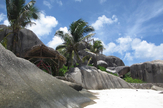 La Digue - Granitfelsen am Strand