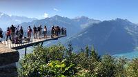 © Edith Spitzer, Wien / Interlaken, CH - Harder-Kulm_Aussichtsplattform / Zum Vergrößern auf das Bild klicken