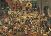 © KHM-Museumsverband / KHM Wien - Ausstellung Bruegel_Kampf zwischen Fasching und Fasten / Zum Vergrößern auf das Bild klicken