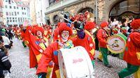 Konstanz, DE - Fasnacht Fanfarenzug Clowns
