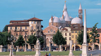 Padua, Italy - View of the Saint Anthonys Basil from Prato della Valle