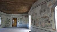 © Edith Spitzer, Wien / Raabs, Waldviertel - Burg_originale Wandmalerei / Zum Vergrößern auf das Bild klicken
