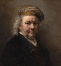 © Mauritshuis Klein / Rembrandts Selbstportrait 1669 / Zum Vergrößern auf das Bild klicken