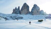 © Ina Ludwig_Adobe Stock / Dolomiten, Südtirol - Schneeschuhtour / Zum Vergrößern auf das Bild klicken
