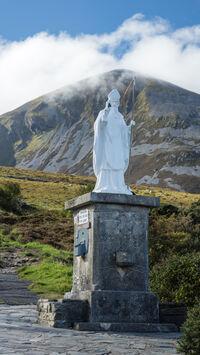 St Patrick-Statue of St Patrick beneath Croagh Patrick