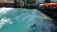© Edith Spitzer, Wien / Thun, CH - Wassersurfer / Zum Vergrößern auf das Bild klicken