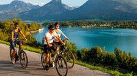 © Wolfgangsee Tourismus / Alexander Savel / Wolfgangsee, Salzkammergut - Radfahrer / Zum Vergrößern auf das Bild klicken