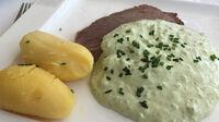 © Edith Spitzer, Wien / Wiesbaden, DE - Neroberg_Restaurant Opelbad_Grüne Sauce / Zum Vergrößern auf das Bild klicken