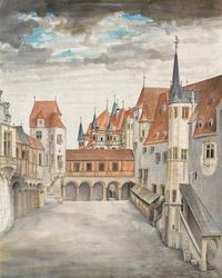 © Albertina, Wien / Albertina, Wien - Albrecht Dürer_Innsbruck von Norden / Zum Vergrößern auf das Bild klicken