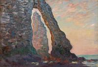 © National Gallery of Canada, Ottawa / Albertina, Wien - Claude Monet, Blick auf die Felsnadel 1886 / Zum Vergrößern auf das Bild klicken