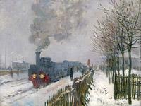 © Musée Marmottan Monet, Paris / Bridgeman Images / Albertina, Wien - Claude Monet, Die Eisenbahn im Schnee - Lokomotive 1875 / Zum Vergrößern auf das Bild klicken