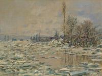 © Museu Calouste Gulbenkian, Lissabon; Catarina Gomes Ferreira / Albertina, Wien - Claude Monet, Eisbruch - trübes Wetter 1880 / Zum Vergrößern auf das Bild klicken